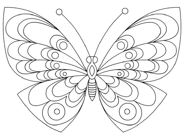 Простая схема шаблон Бабочка