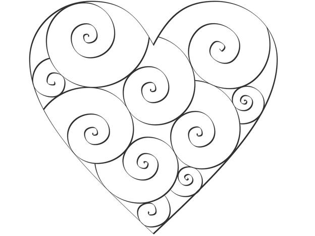 Простая схема шаблон Сердце