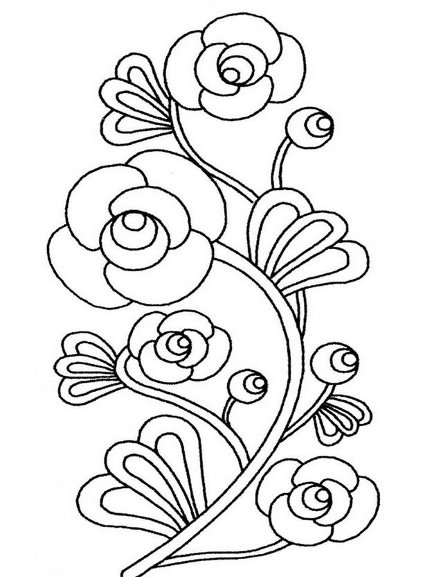 Простая схема шаблон Цветок