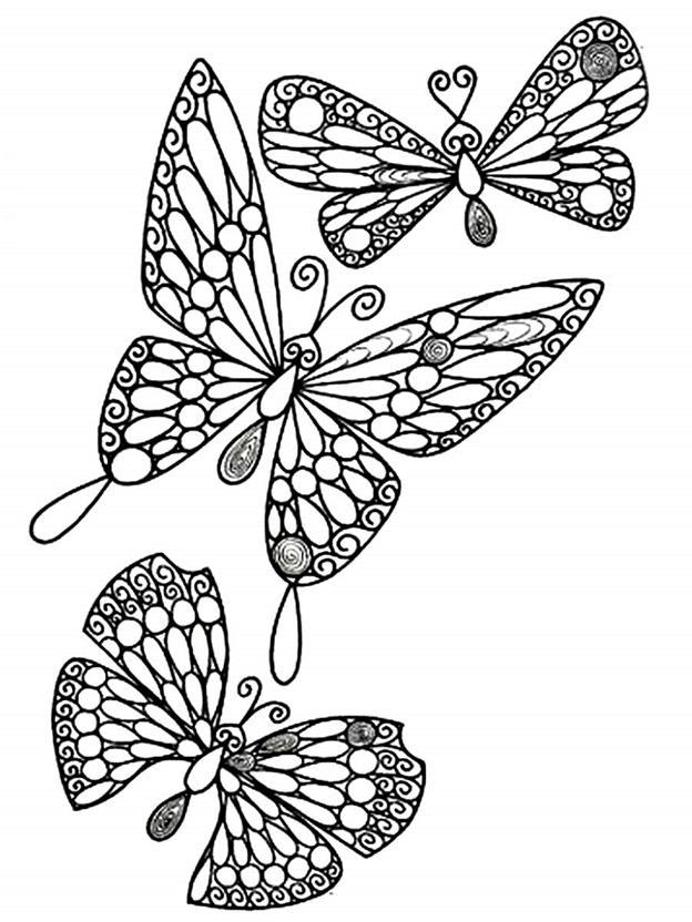 Схема шаблон Бабочки