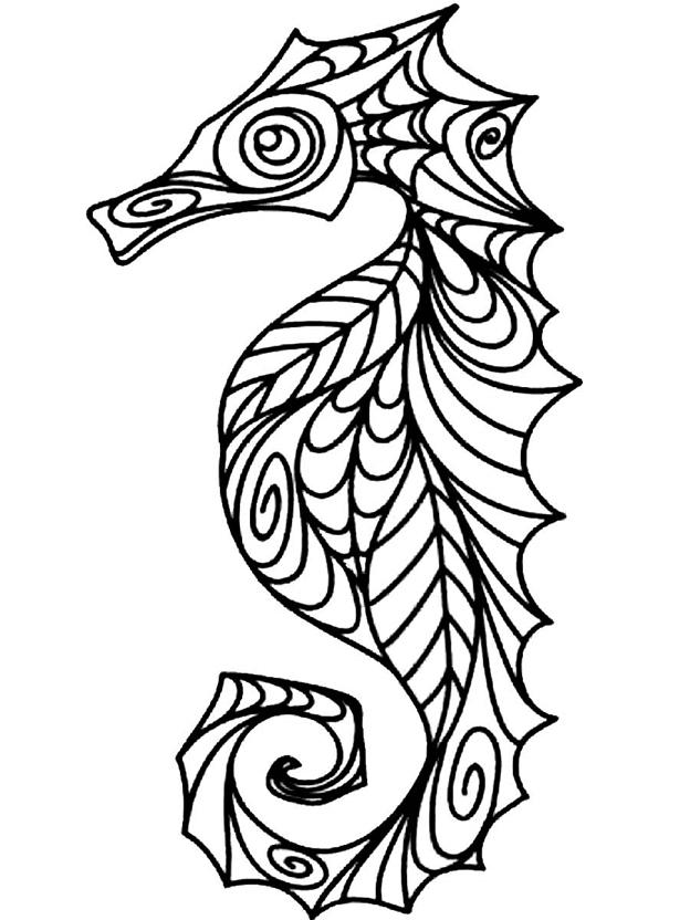 Схема шаблон Морской конёк