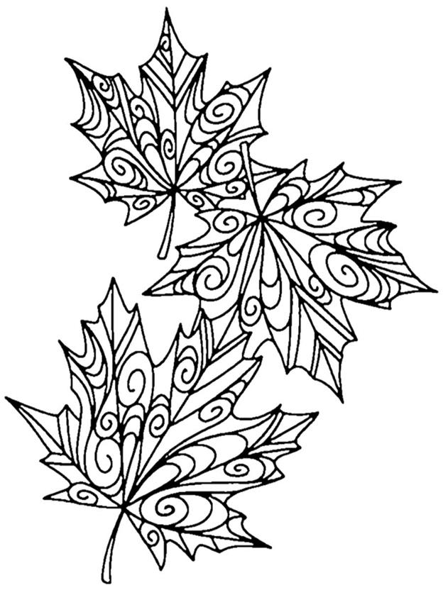 Схема шаблон Листья