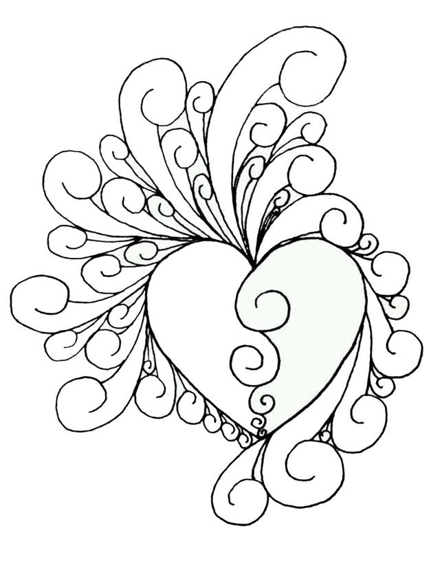 Схема шаблон Сердце