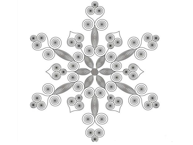 Схема шаблон Снежинка
