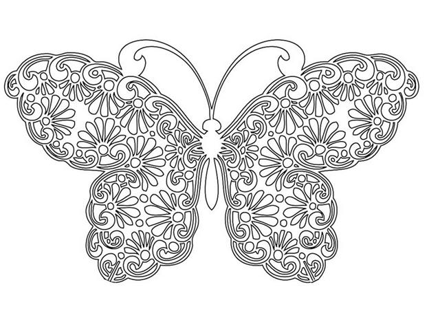 Сложная схема шаблон Бабочка
