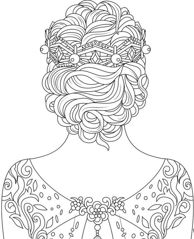 Сложная схема шаблон Девушка в наряде