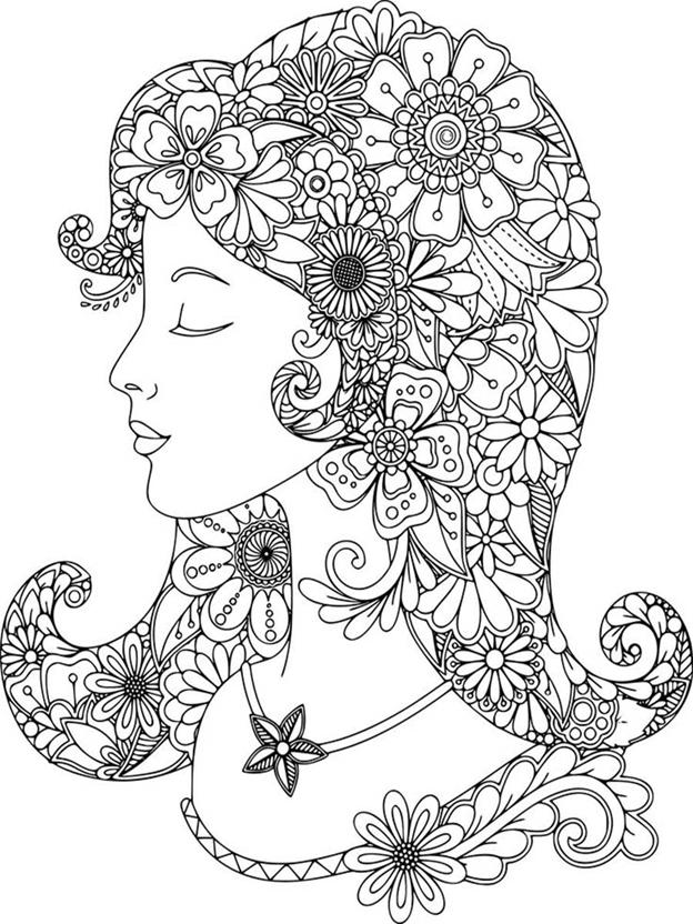 Сложная схема шаблон Цветочная девушка