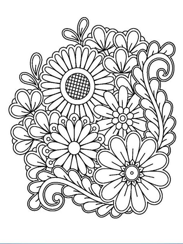 Сложная схема шаблон Цветы