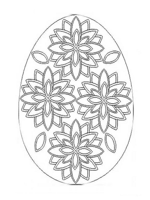 Сложная схема шаблон Яйцо