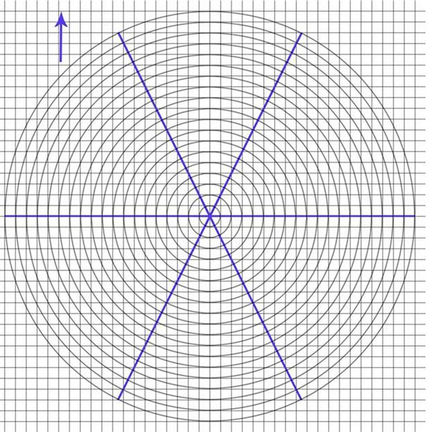 Разметка для схем шаблонов трафаретов