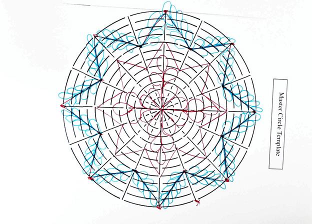 Пример работы с разметкой для схем шаблонов трафаретов