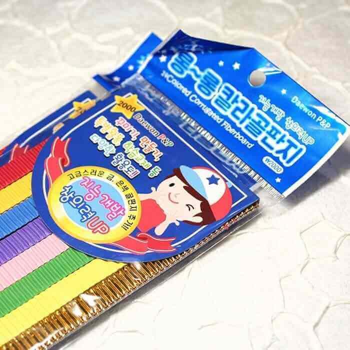 Гофрированный набор корейских квиллинг полосок