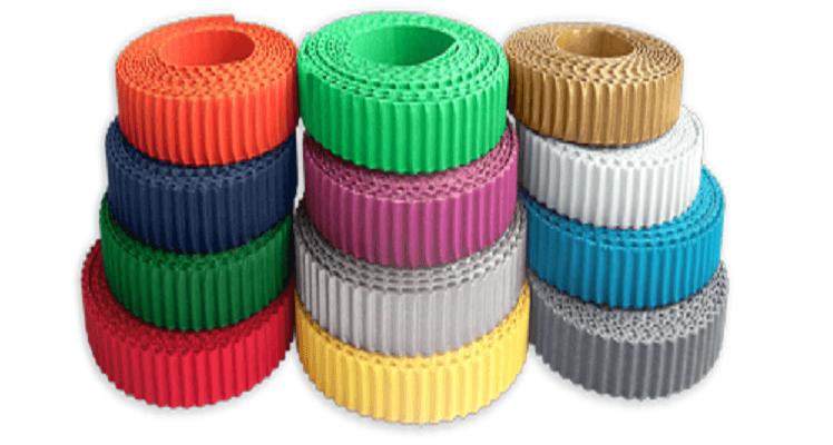Цветные бумажные полоски из гофрокартона