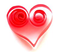 Элемент квиллинга скролл Сердце