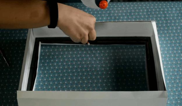 Изготовление бумажной глубокой рамки