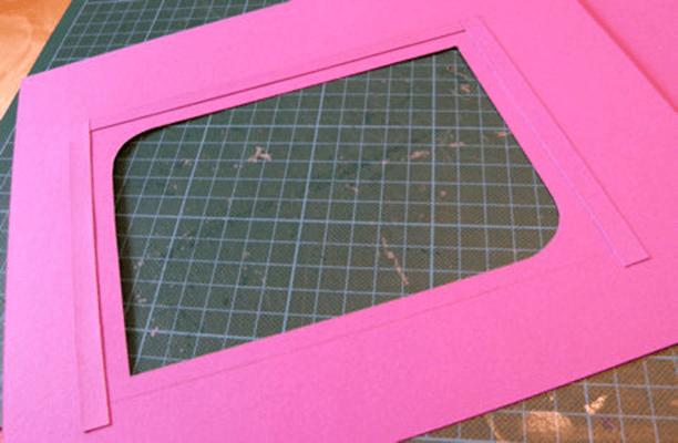 Изготовление бумажной рамки для фото