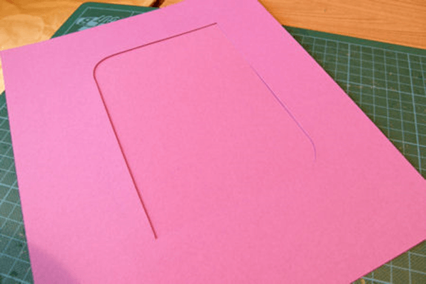 Бумажная рамка для фотографий