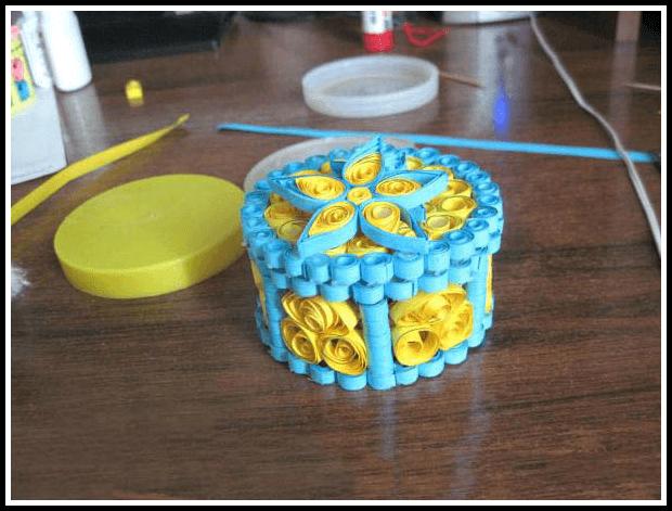 Готовая шкатулка в технике квиллинг для начинающих пошагово