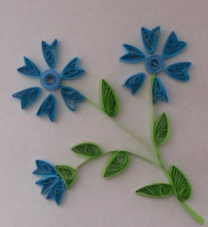 Квиллинг цветок из простых роллов