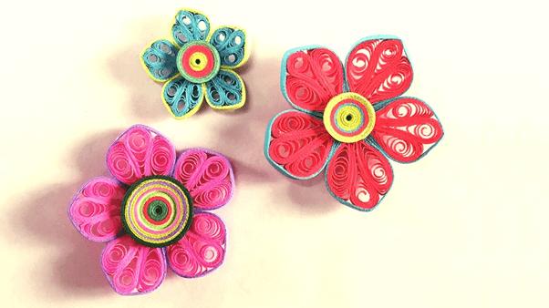 Бумажные цветочки в технике бумагокручения