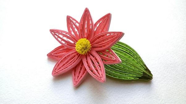 Бумажный цветок кактуса в петельчатой технике квиллинга