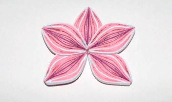 Незавершенный бумажный цветок квиллинг Орхидеи