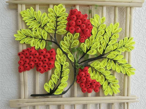 Китайское панно с деревянной решёткой из палочек