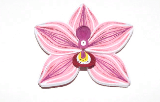 Бумажная заготовка квиллинг цветка Орхидеи
