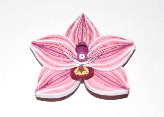 Бумажный цветок квиллинг Орхидеи
