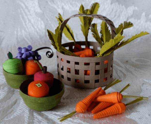 Объёмная корзина овощей