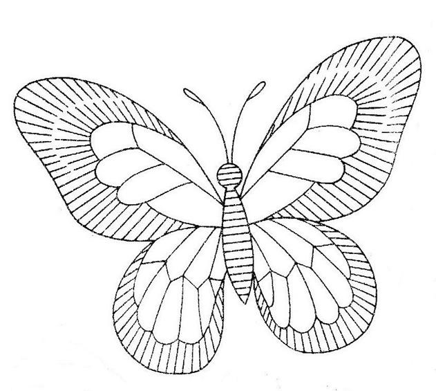 шаблон бабочки