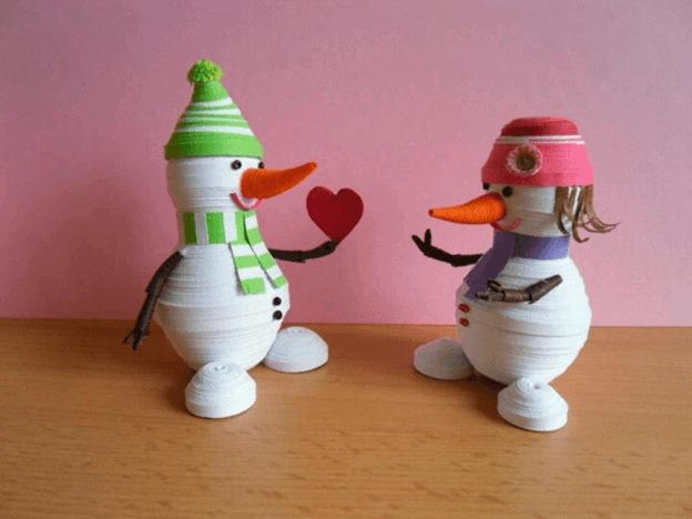 Бумажные снеговики
