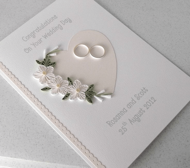 Свадебная открытка с кольцами