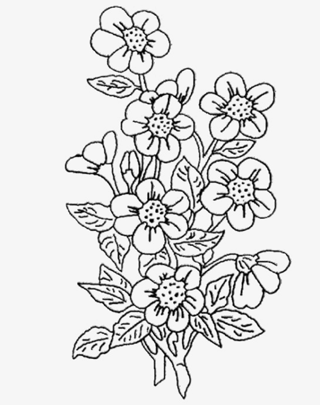 Цветочный трафарет