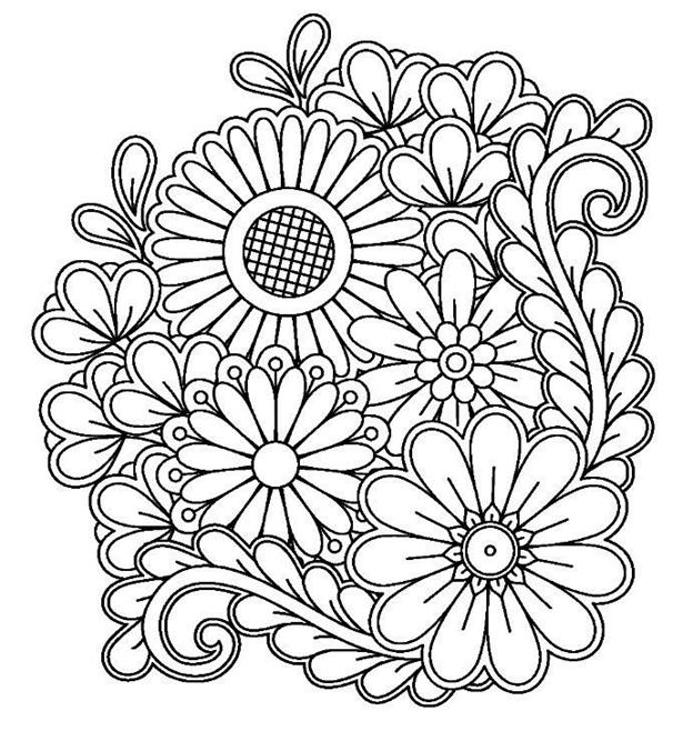 Схема букета цветов