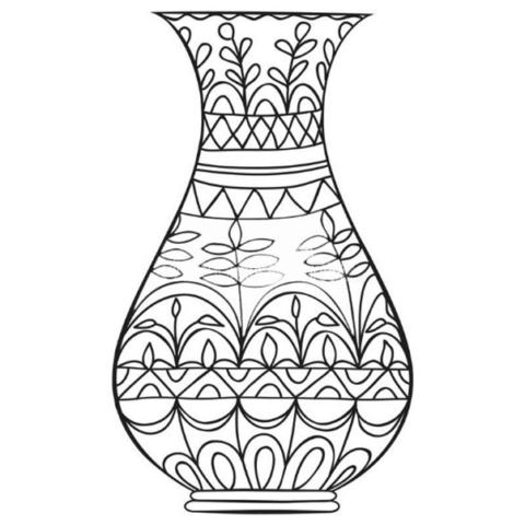 Схема шаблон бумажной вазы