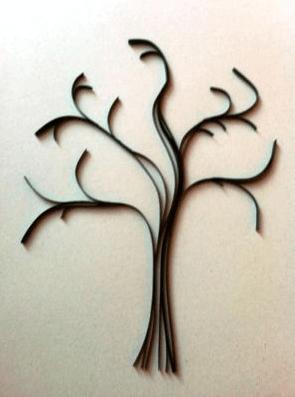 Ствол дерева из бумаги