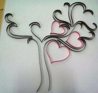 Дерево в стиле контурного квиллинга