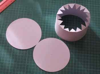 Бумажная основа для лукошка в стиле квиллинга