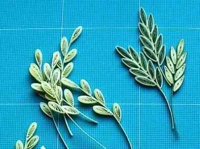Изготовление бумажного листа ролами в стиле квиллинга