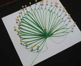 Изготовление бумажного листа стиле петельчатой технике квиллинга