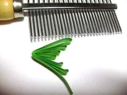 Бумажная хвоя в стиле петельчатой технике квиллинга