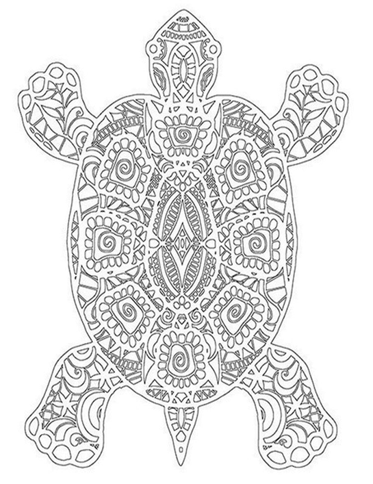 Схема шаблон бумажной черепахи