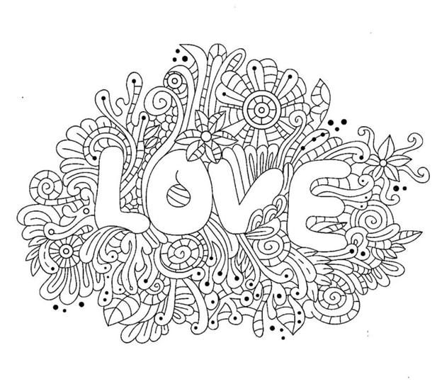 Схема шаблон бумажной Love