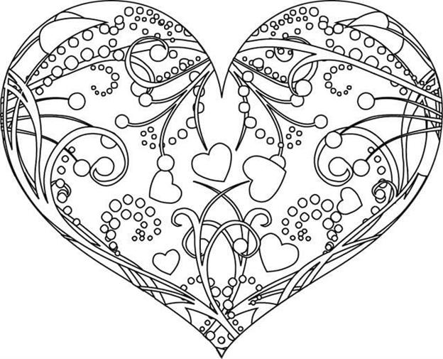 Схема шаблон бумажного сердечка