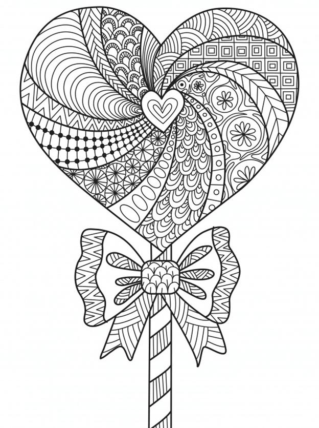 Схема шаблон бумажное сердечко леденец