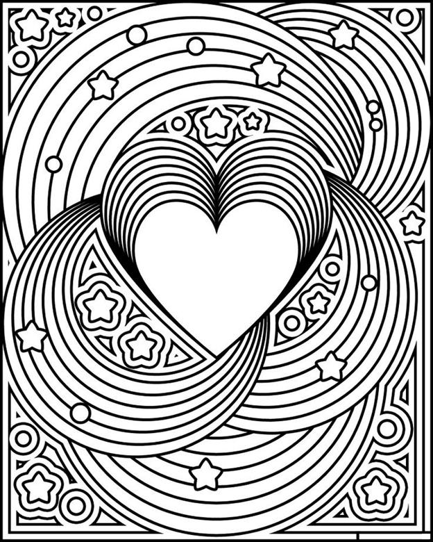 Схема шаблон бумажного сердца