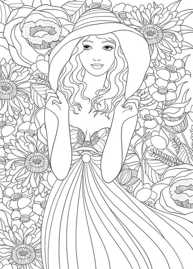 Схема шаблон бумажной цветочной девушки