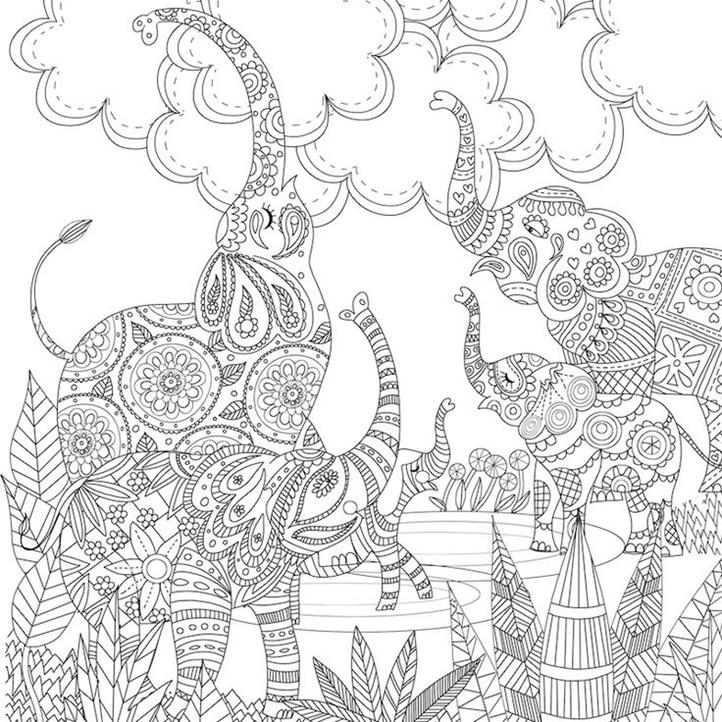 Схема шаблон бумажных слонов