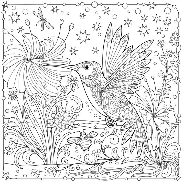 Схема шаблон бумажной волшебной колибри